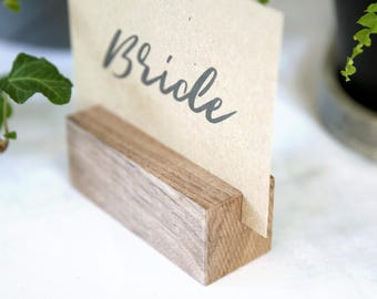 10 x Wood Place Card Holders | Table Talkers | Timber Name Card Holders | Wood Table Numbers | Table Card Holders | Rustic Wedding