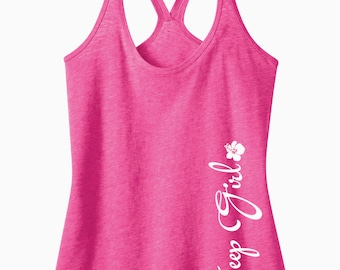 Jeep Girl {Hibiscus Flower} T-Back Tank Top