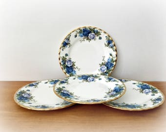 Royal Albert Midnight Rose Bread and Butter Plates Dessert Plates