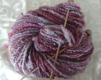 Ice in the Plum Grove super-skein art yarn, 144 yards of bulky weight beauty!