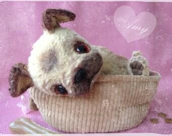 "PDF Instant Download Pattern / E-Book PUG Puppy "" AMY "" :) 10 Inch - by Eileen Seifert - Teddy-Manufaktur.de"