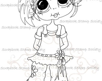 INSTANT DOWNLOAD Digital Digi Stamps Big Eye Big Head Dolls Messy Bessy My Besties Digi Miss Img741 By Sherri Baldy