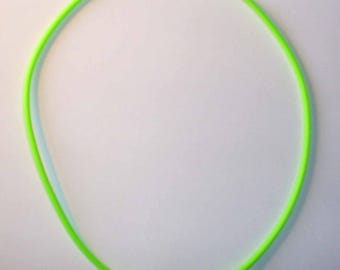 1 green neon 46cm ACFI242 green rubber Choker