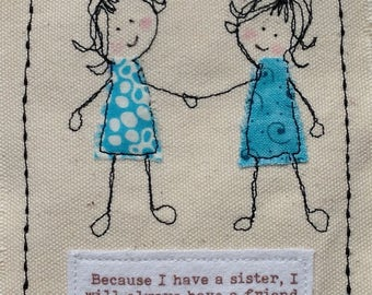 Handmade birthday card for sister with special quote Sister birthday Sister get well Sister thank. Your words can be printed top of card