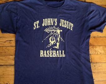 Vintage St. John's Jesuit baseball t shirt