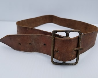 VINTAGE LEATHER BELT - Primitive Leather Belt
