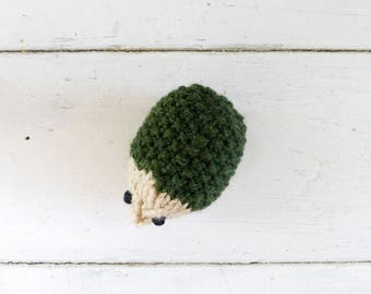 Green hedgehog, hedgehog stuffed animal, stuffed animal, amigurumi animals