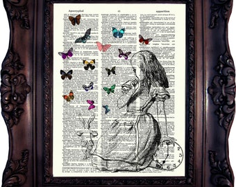 Alice in Wonderland Print Alice in Wonderland Decoration Alice in wonderland Decor Alice in Wonderland Art Alice Wedding Alice Party C:534