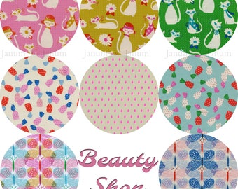 Fat quarter bundle from the Beauty shop fabric collection by Sarah Watts and Melody Miller for Cotton and Steel
