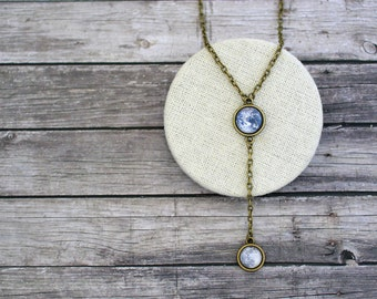 Earth and Moon Necklace, Solar System Necklace, Planets Necklace, Earth and Moon Jewelry, Solar System Jewelry, Planets Jewelry, Planets