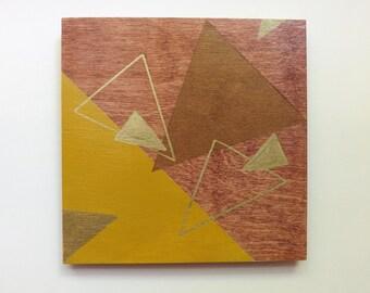 Triangles on walnut