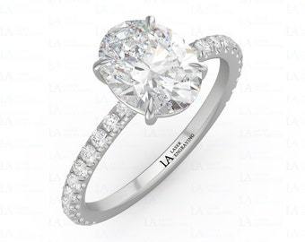 Oval Engagement Ring, Diamond Ring, Moissanite Ring, Oval Moissanite, White Gold Oval Ring, Oval Diamond Ring, Solitaire Engagement Ring,