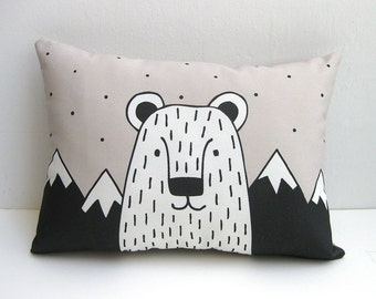 Bear Cushion, Bear Throw Pillow, Bear Pillow, Animal Cushion, Animal Pillow, Decorative Cushion, Decorative Pillow