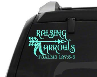 Raising arrows car decal - christian car decal - raising arrows bumper sticker