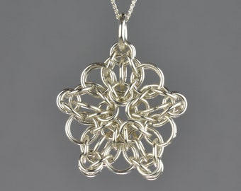 Celtic Star Chainmail Pendant - Small