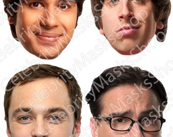 The Big Bang Theory 4 printable fun masks Main Characters Kit