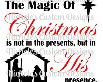 The Magic of Christmas - silhouette file