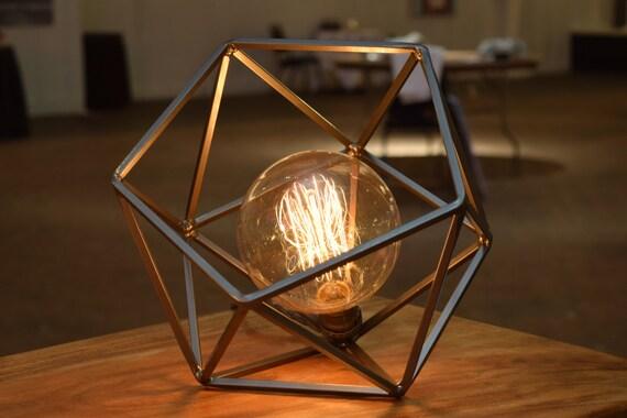 Table Lamp Modern Geometric Edison Bulb Lamp The Mercedes
