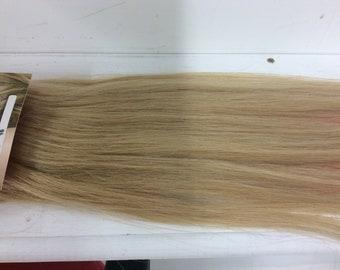 "Dark honey blonde (16)  100% human hair clip in extensions   14""  18""  20"""