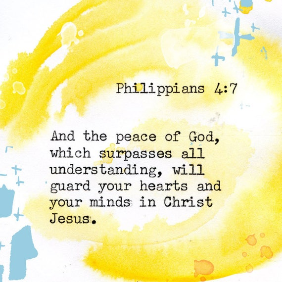Philippians 4:7 - Inspirational Bible Verse fine art print