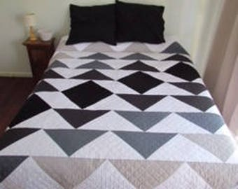 PDF Pattern - Ombre Flying Geese - Modern Quilt - Immediate Download