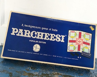 Vintage Parcheesi Game 1967 Board Game Backgammon Game India