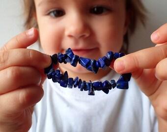 Baby bracelet Lapis lazuli , Baby jewelry. Healing stone baby, beaded bracelet baby. Baby gemstone bracelet
