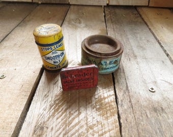 Vintage Hardware Tins, Containers, Garage, Tools, Rustic, Retro