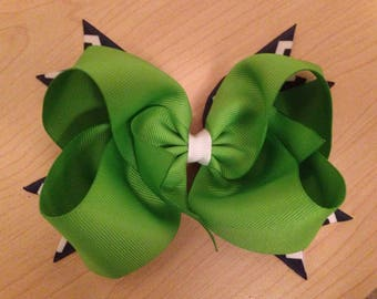 Green / Navy Bow