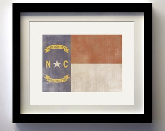 North Carolina Flag Print