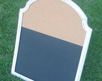 Framed Message Center, Rustic Framed Memo Board, Cork Board, Chalk Board, Kitchen Messages, Entryway Message Center, Office Memo Board