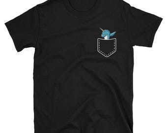Dabbing Narwhal in Your Pocket T shirt
