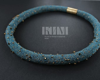 Bead Crochet Necklace - Constellations of the Northern Hemisphere with Swarovski