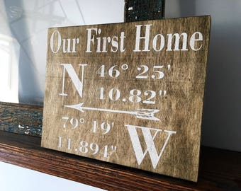 Our First Home Sign
