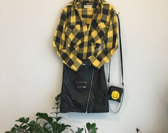 Vintage St. John's Bay Yellow Flannel Long Sleeve Shirt
