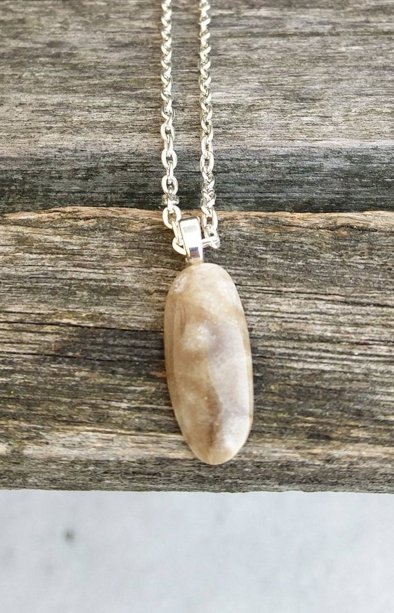 Petoskey Stone Necklace. Fossilized Coral. Wedding, Christmas Gift, Birthday, Anniversary Gift. Michigan