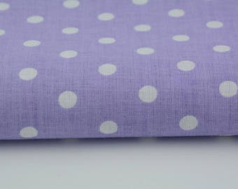 100% cotton fabric piece 160 x 50 cm, textile printing, 100% cotton white polka given 7mm on