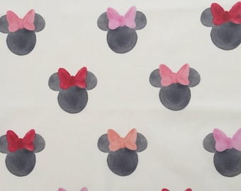 custom baby blanket ~ watercolor minnie ears ~ chic couture ~ baby accessories ~ custom made baby blanket from lillybelle designs