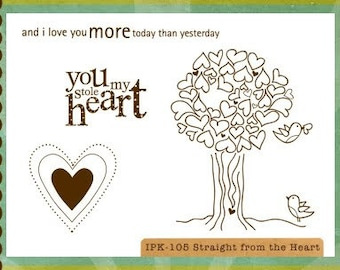 CLEARANCE Ippity Stamps - Straight from the Heart