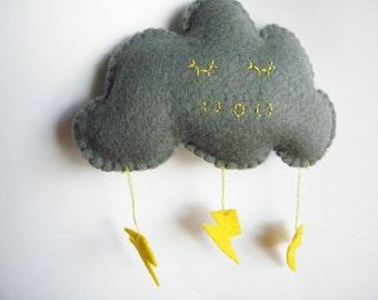 Sleepy Felt Storm Cloud Made to Order