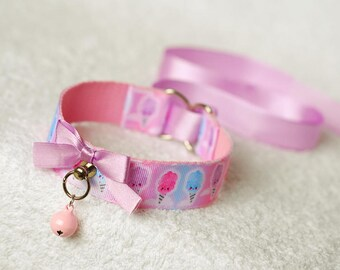 Cotton Candy, vol. II - collar for pet play, age play, bdsm, ddlg, abdl, lolita