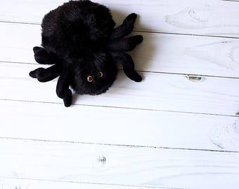 halloween black spider toy stuffed animals soft spider plush spider cute little tarantula  toy halloween gift stuffed animal toy