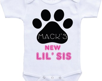 dog brother onesies dog baby clothes dog baby announcement dog onsie big brother dog shirt dog onesie big sister dog onesie dog lover gift