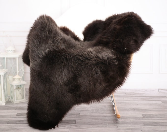 Sheepskin Rug | Real Sheepskin Rug | Shaggy Rug | Chair Cover | Sheepskin Throw | Brown Sheepskin | Home Decor | #febher64