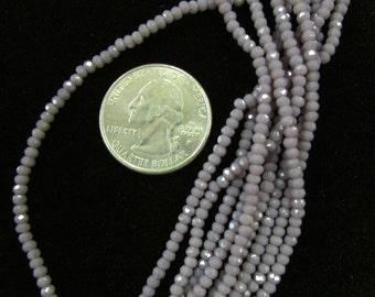 Chinese Crystal 1.5x2.5 Rondelles (Lavender 4n.)