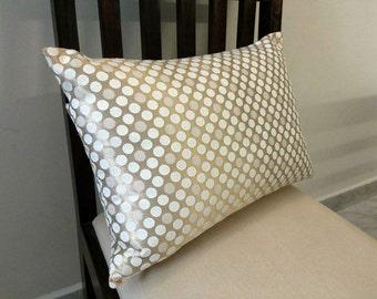 12x18 Golden Lumbar Polyester Pillow Cover Polka Dots Accent Pillows Toss Pillows Decorative Cushion Cover Couch Pillows