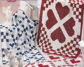 Heart's Delight Afghans, Annie's Attic Crochet Pattern Booklet 871320