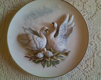 Ardalt Blue Swan Hanging Plate