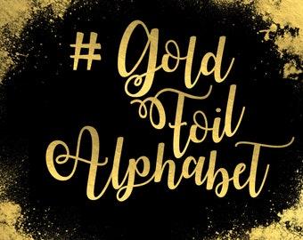 Gold Foil Alphabet ClipArt Gold Foil Letters Gold Font Gold Alphabet Gold Foil Number Foil Clip Art 83 Gold Foil Elements Instant Download