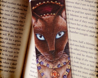 Catherine Howard Cat, Tudor Cats King Henry VIII Wives Laminated Paper Bookmark